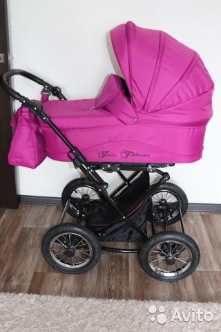 Детская коляска LONEX SAVOY 2 В 1 (розовый)