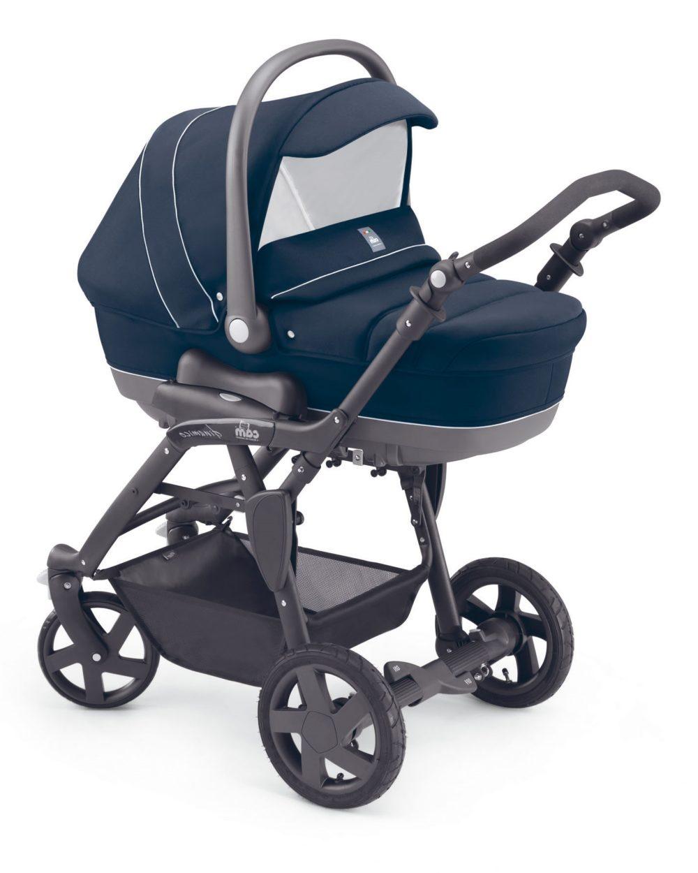 Детская коляска CAM Dinamico Fashion 3 в 1 (темно-синий)