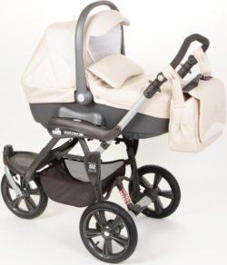 Детская коляска Cortina X3 Tris Evolution 3 в 1 (кремовый)