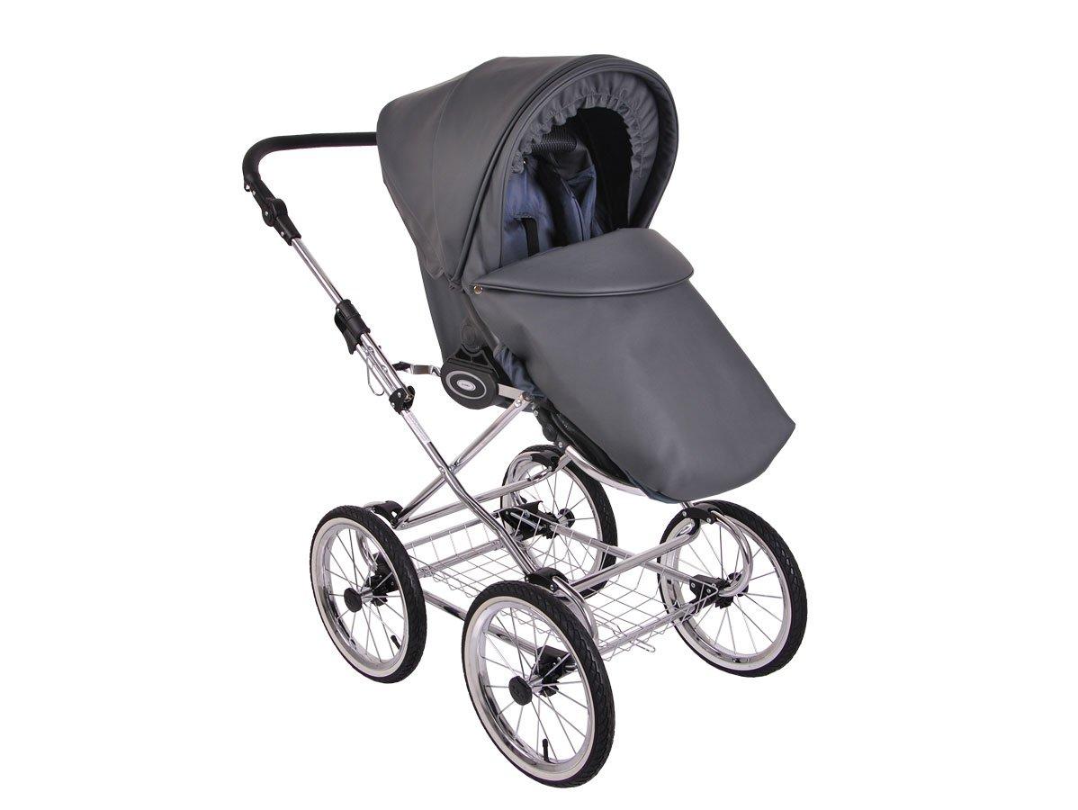 Детская коляска LONEX RETRO ECCO LEDER 2 В 1 (черный)
