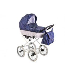 Детская коляска LONEX RETRO ECCO LEDER 2 В 1 (синий)