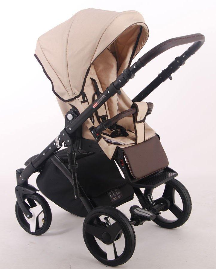 Детская коляска LONEX COMFORT PRESTIGE LEN 2 В 1 (бежевый)