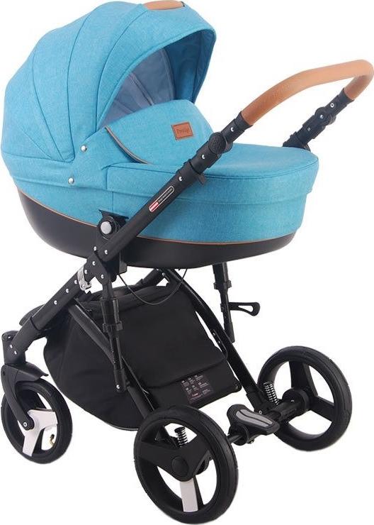 Детская коляска LONEX COMFORT PRESTIGE LEN 2 В 1 (голубой)