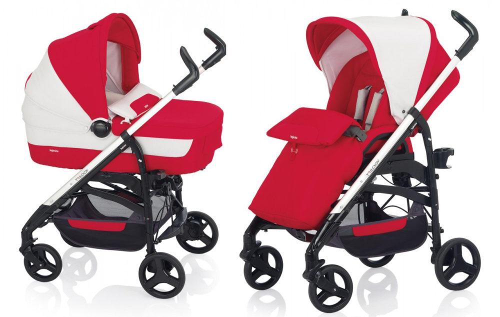 Детская коляска Inglesina Trilogy System 2 в 1 (бело-красный)