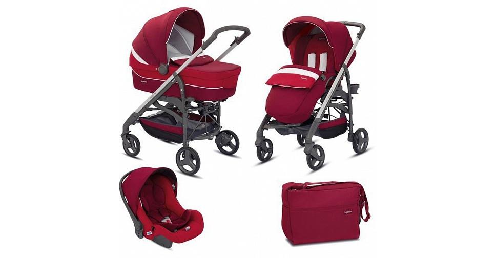 Детская коляска Inglesina Trilogy System 3 в 1 (бело-красный)