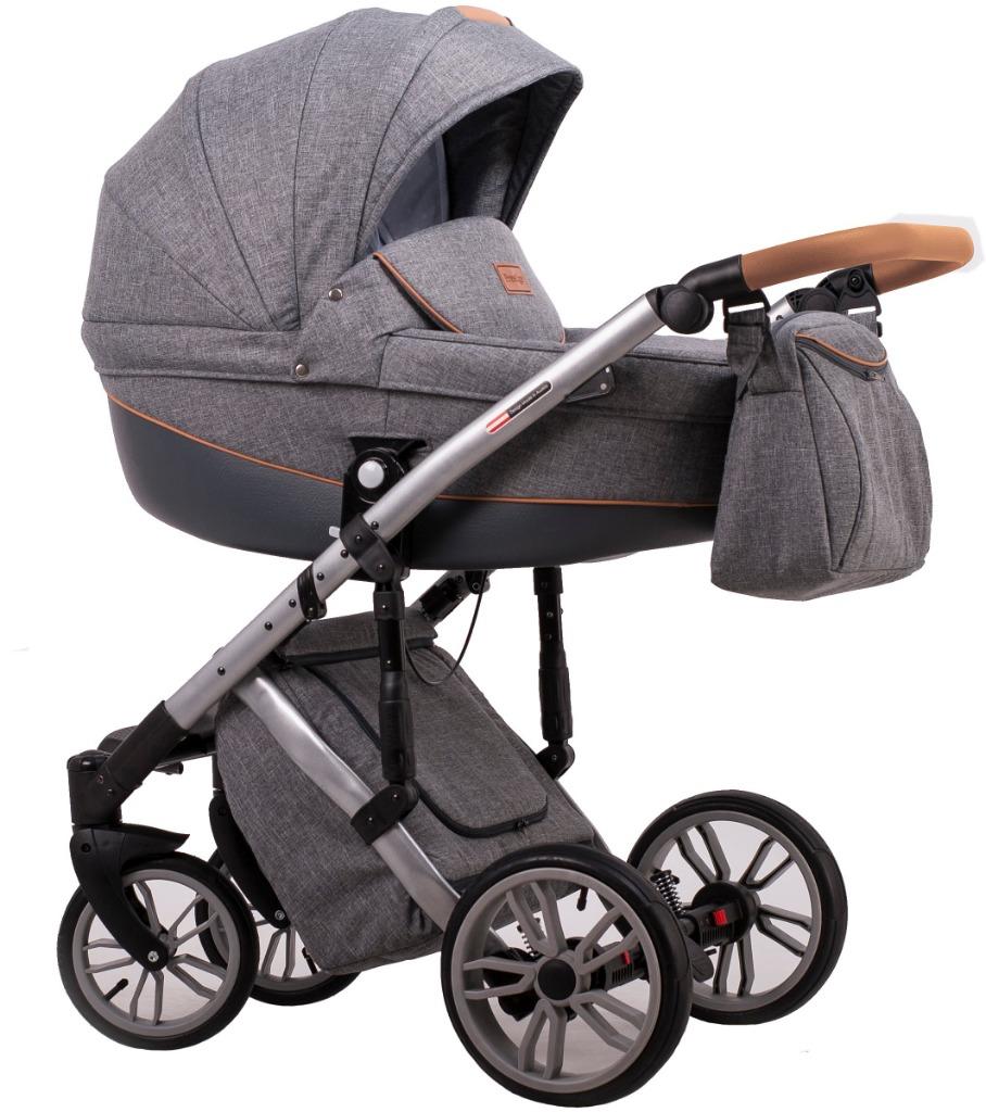Детская коляска LONEX COMFORT PRESTIGE LEN 2 В 1 (темно-серый)