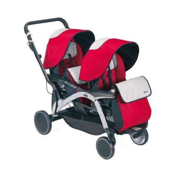 Прогулочная коляска для двойни Cam Twin Pulsar (красный)
