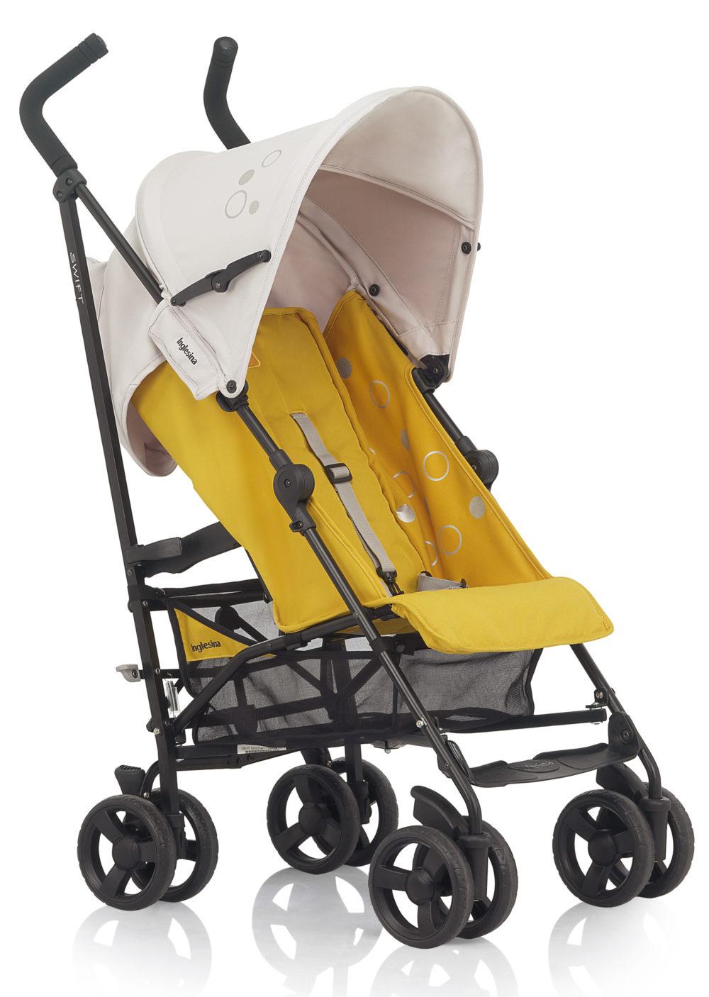Детская коляска Inglesina Swift с бампером (желтый)