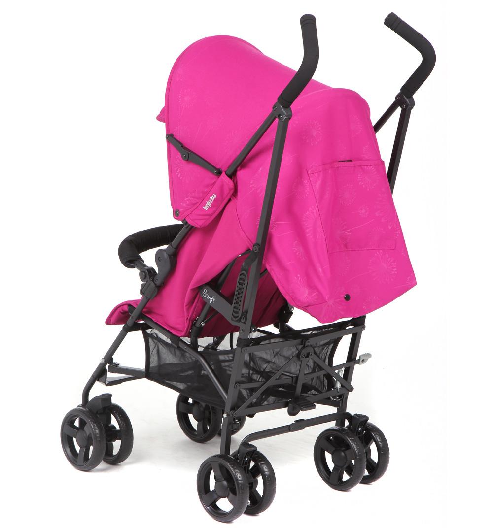 Детская коляска Inglesina Swift с бампером (розовый)