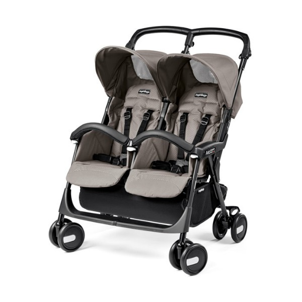 Прогулочная коляска для двойни Peg-Perego Aria Shopper Twin (Серый)