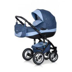 Детская коляска Riko brano 3 в 1 (Синий/голубой)