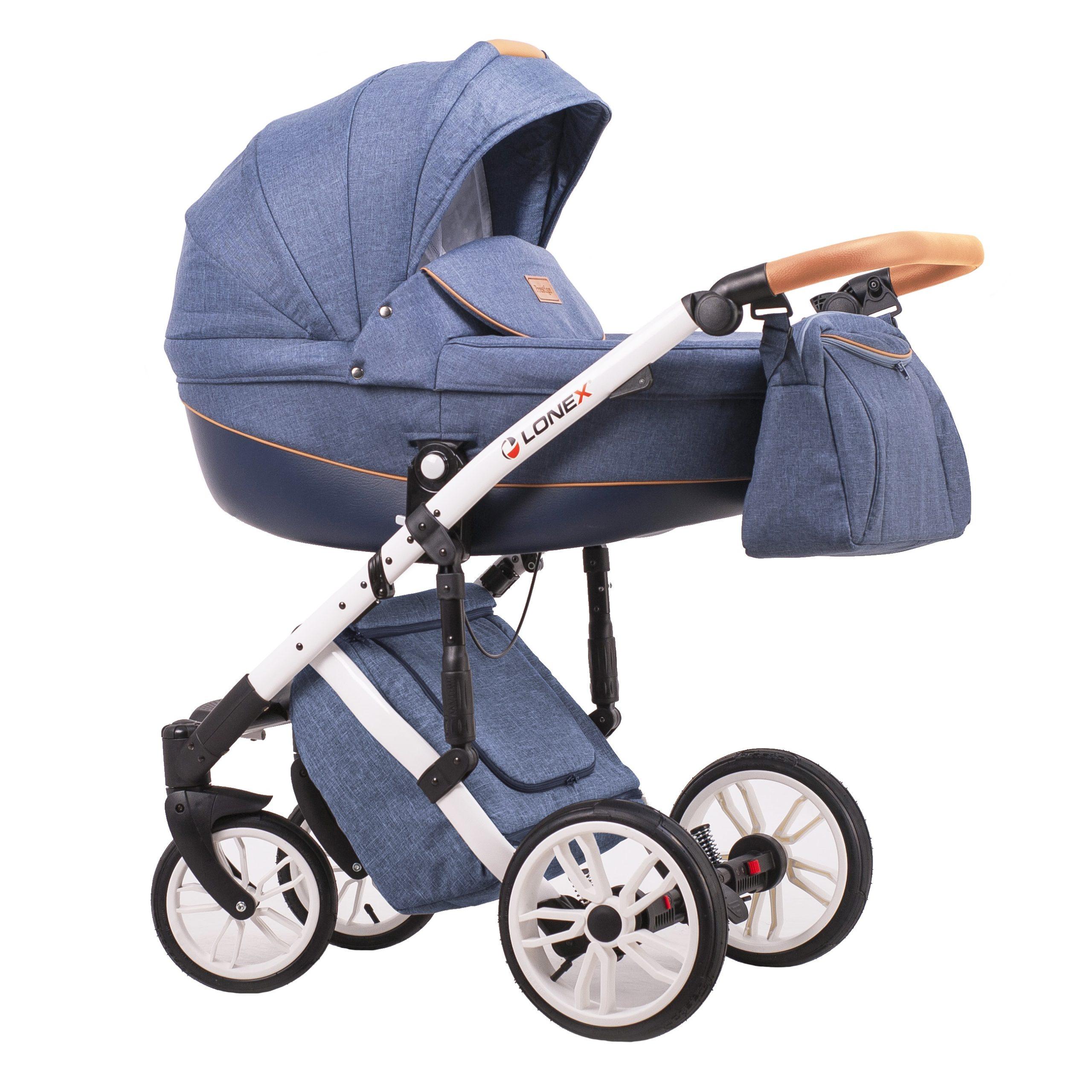 Детская коляска LONEX COMFORT PRESTIGE 3 В 1 (джинсовый)