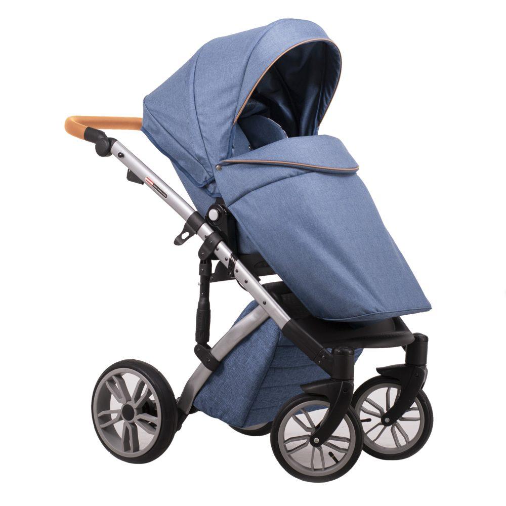 Детская коляска LONEX COMFORT PRESTIGE 3 В 1 (голубой)