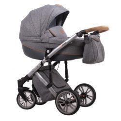 Детская коляска LONEX COMFORT PRESTIGE 3 В 1 (темно-серый)
