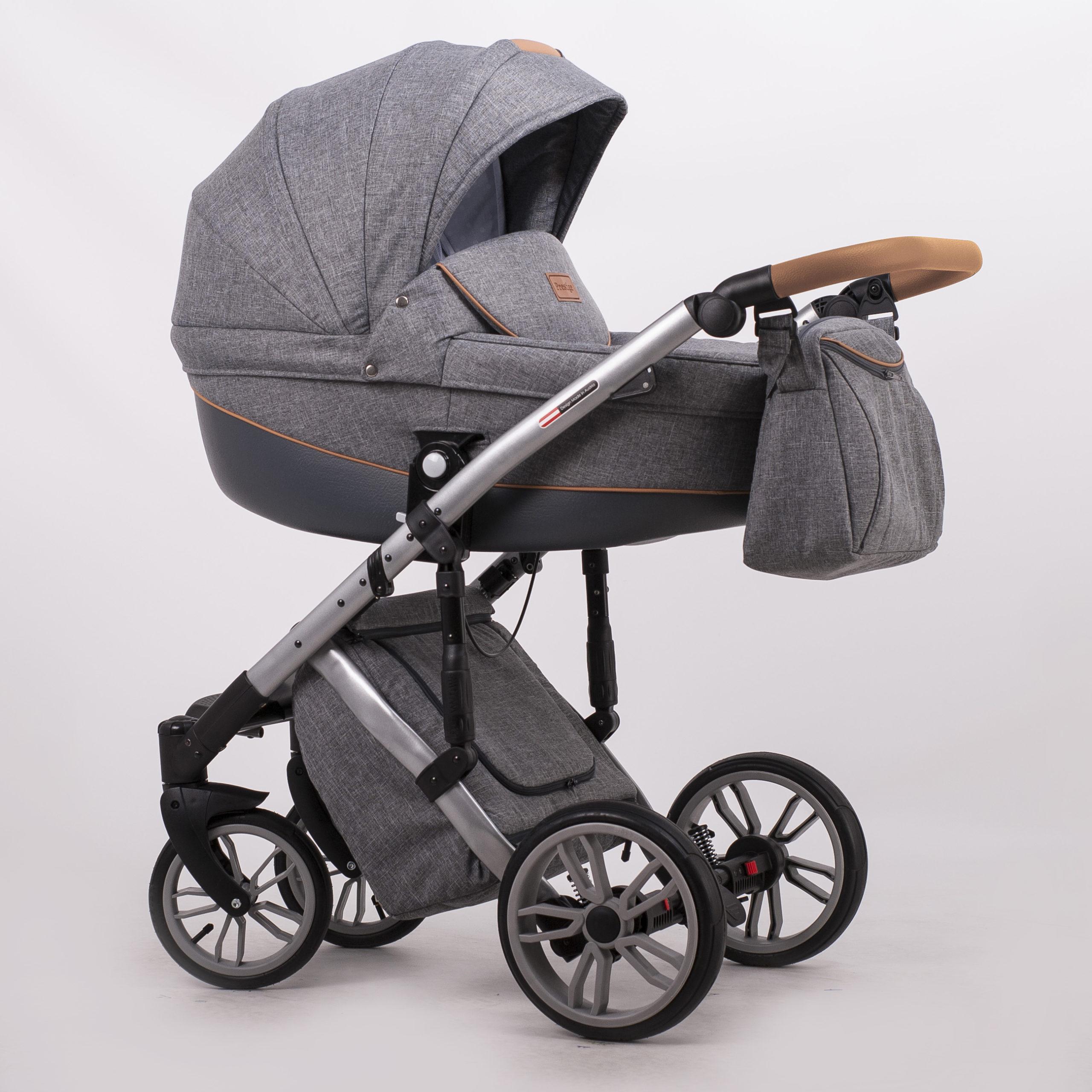 Детская коляска LONEX COMFORT PRESTIGE 2 В 1 (темно-серый)
