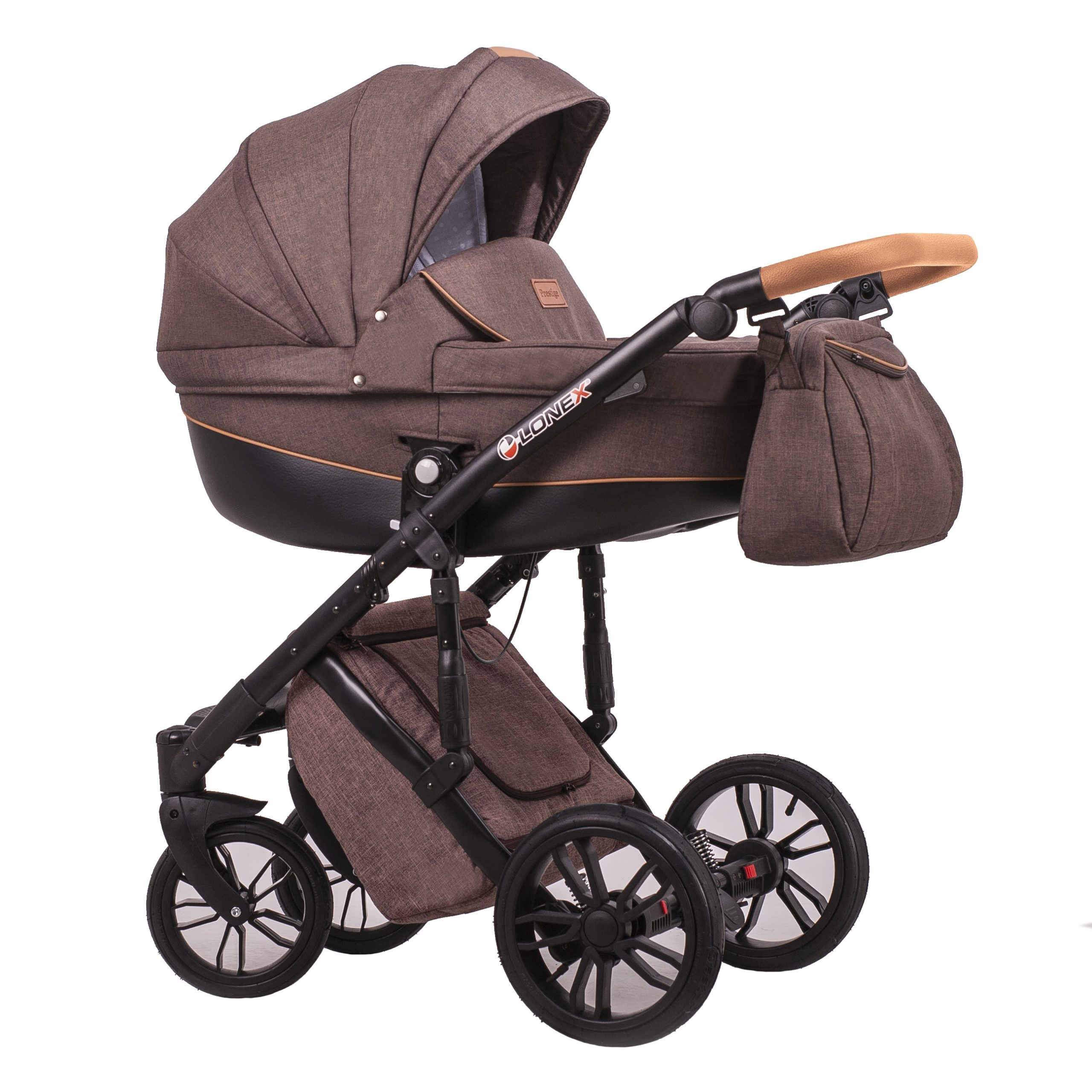 Детская коляска LONEX COMFORT PRESTIGE 2 В 1 (коричневый)