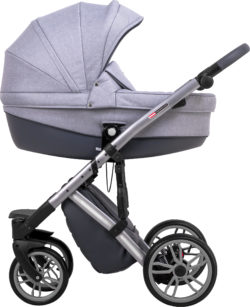 Детская коляска LONEX COMFORT PRESTIGE 3 В 1 (светло-серый)