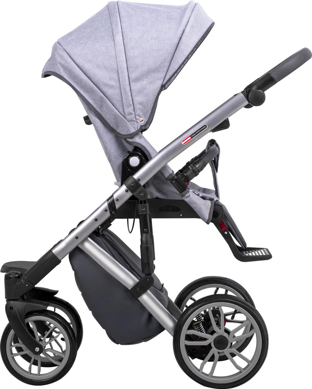 Детская коляска LONEX COMFORT PRESTIGE 2 В 1 (светло-серый)