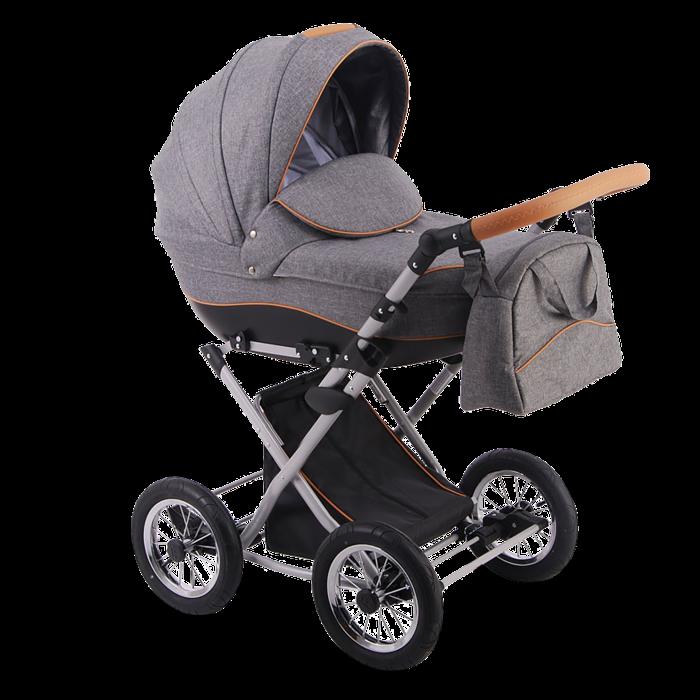 Детская коляска LONEX PARRILLA 3 В 1 (темно-серый)