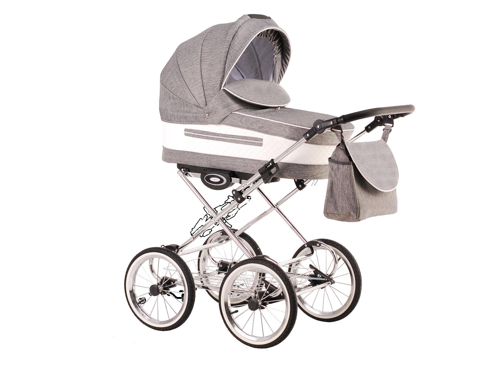 Детская коляска LONEX CLASSIC ELEGANTO LEN 2 В 1 (серый)