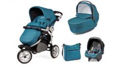Детская коляска Peg-Perego GT3 Completo Modular system 3 в 1 (Бирюзовый)