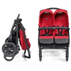 Прогулочная коляска для двойни Peg-Perego Book For Two Classico (красный)