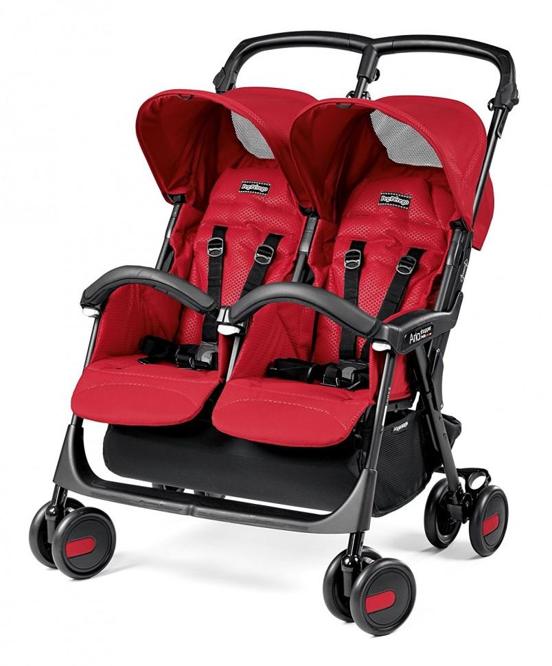 Прогулочная коляска для двойни Peg-Perego Aria Shopper Twin (красный)