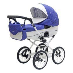 Детская коляска Riko Brano Ecco Prestige 2 в 1 (Светло-синий/белый)