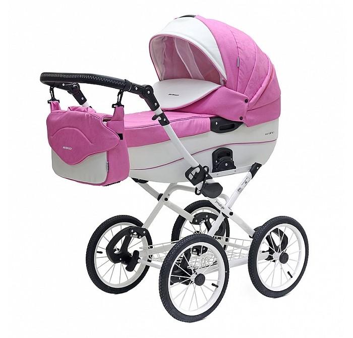 Детская коляска Riko Brano Ecco Prestige 2 в 1 (Розовый/белый)