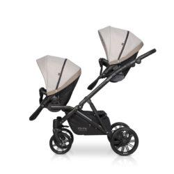 Детская коляска для двойни Riko Team 2 в 1 2020 NEW (Капучино)