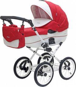 Детская коляска Riko Brano Ecco Prestige 2 в 1 (Красный/белый)