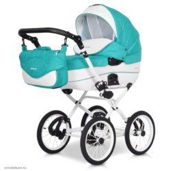 Детская коляска Riko Brano Ecco Prestige 2 в 1 (Бирюзовый/белый)