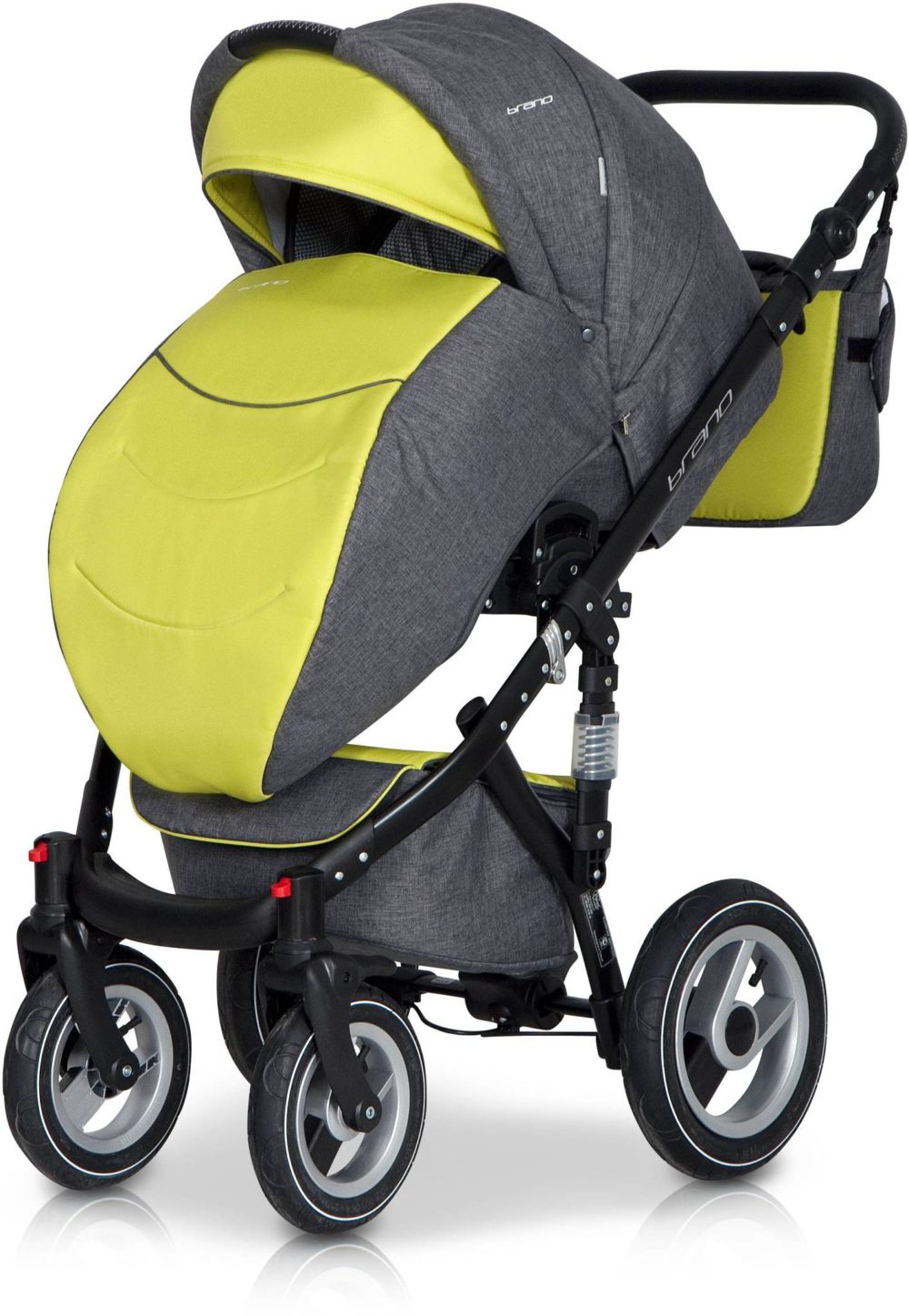 Детская коляска Riko Brano 2 в 1 (Серый/зеленый)