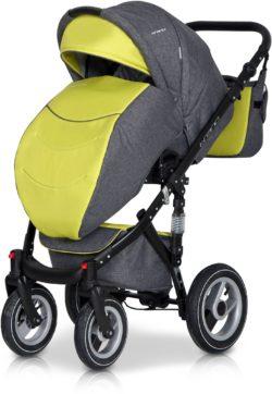 Детская коляска Riko brano 3 в 1 (Серый/зеленый)