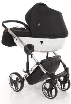 Детская коляска Junama Diamond 2 в 1 (черно-белый)