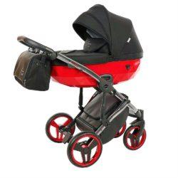 Детская коляска Junama Diamond Special 3 в 1 (черный/красный)