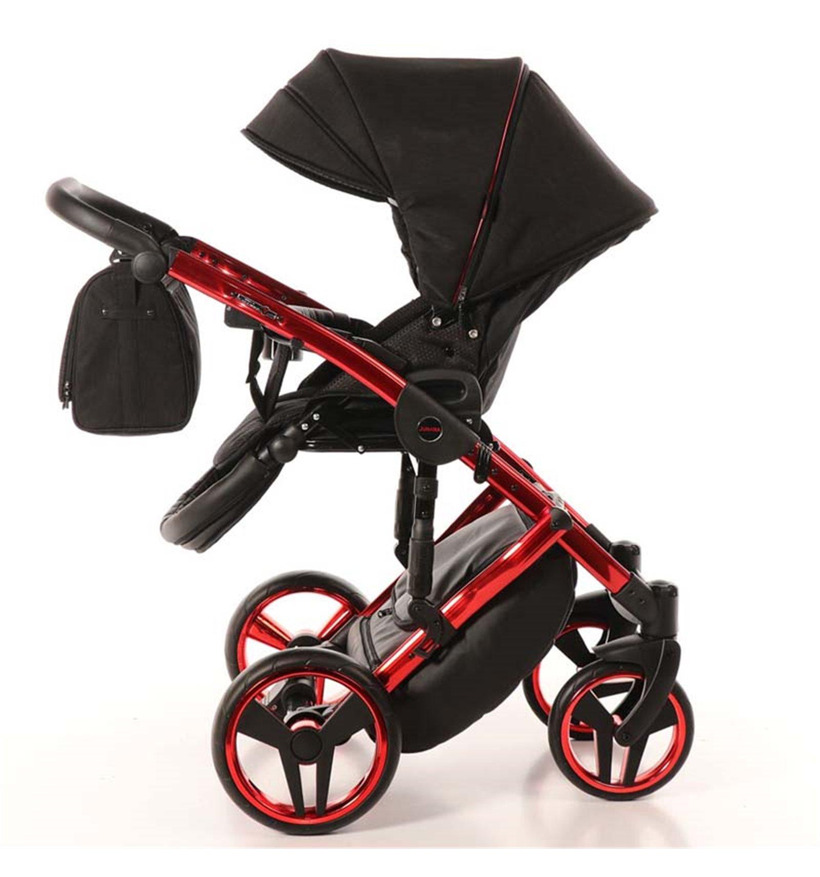 Детская коляска Junama Diamond Individual 3 в 1 (черный/красный)