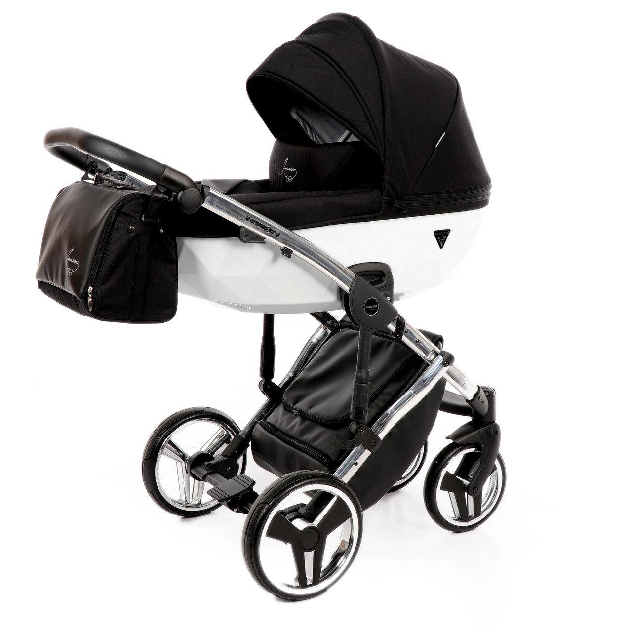Детская коляска Junama Diamond 3 в 1 (черно-белый)