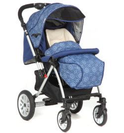 Детская коляска Capella S-803WF Сибирь (синий)
