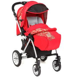 Детская коляска Capella S-803WF Сибирь (красный)