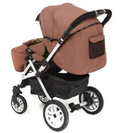 Детская коляска Capella S-803WF Сибирь (коричневый)