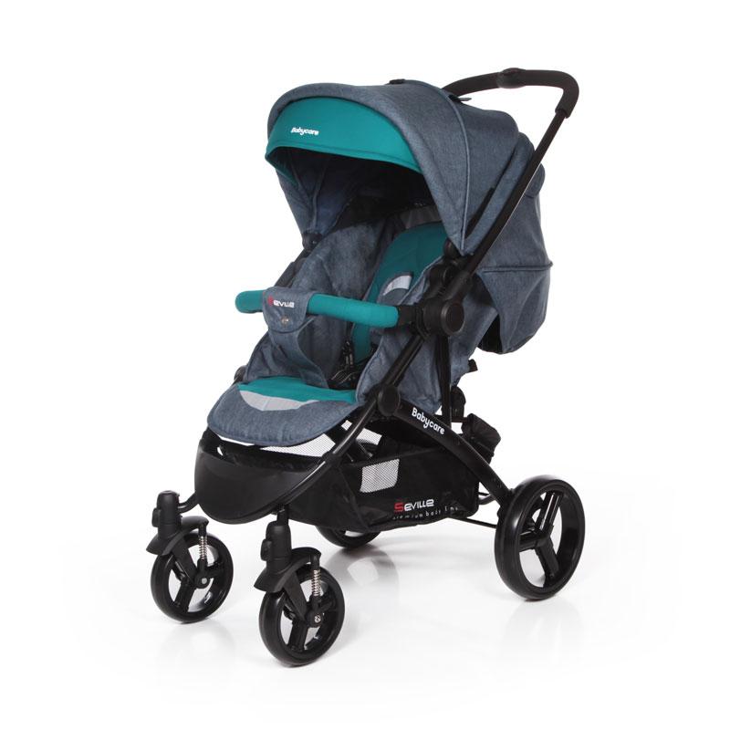 Прогулочная коляска Baby Care Seville (Серый/бирюзовый)