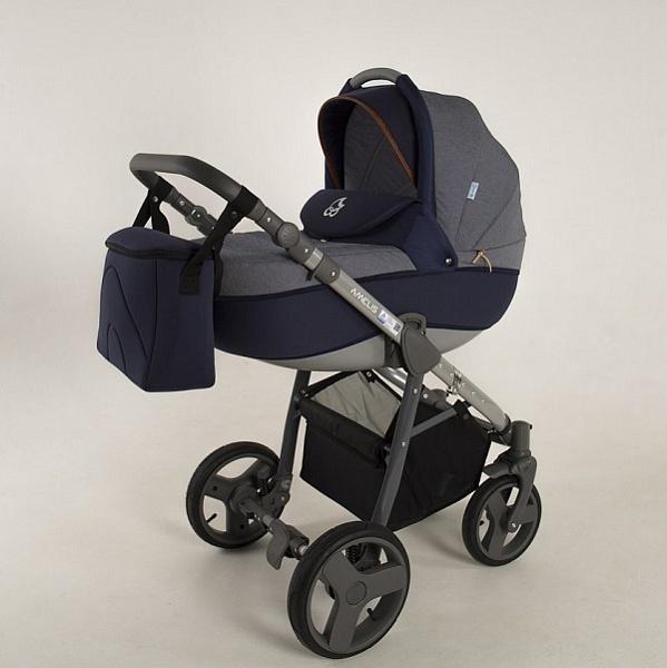 Детская коляска NoordLine Amelis 2 в 1 (синий)