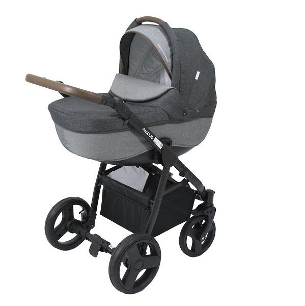 Детская коляска NoordLine Amelis 2 в 1 (темно-серый)
