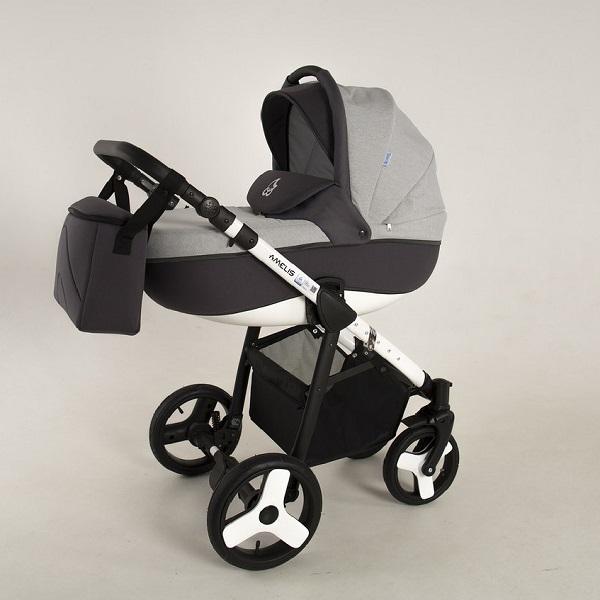 Детская коляска NoordLine Amelis 2 в 1 (серый/черный)