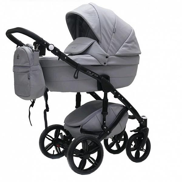Детская коляска Rant Aura S Line 2 в 1, эко-кожа (серый)