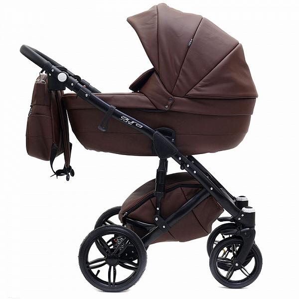 Детская коляска Rant Aura S Line 2 в 1, эко-кожа (коричневый)
