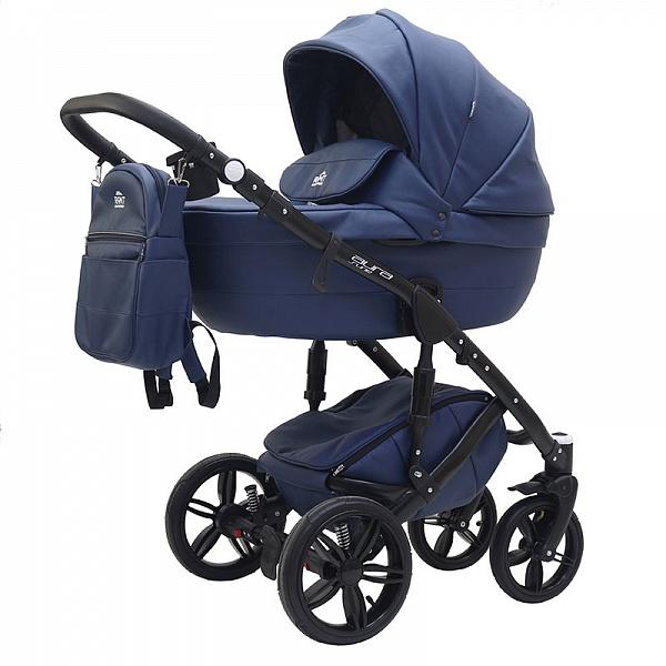 Детская коляска Rant Aura S Line 2 в 1, эко-кожа (синий)