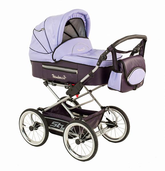 Детская коляска Reindeer Style Leather Collection 3 в 1 (фиолетовый)