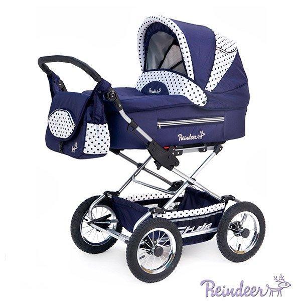 Детская коляска Reindeer Style 2 в 1 с конвертом (синий)